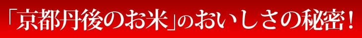 「京丹後のお米」のおいしさの秘密!