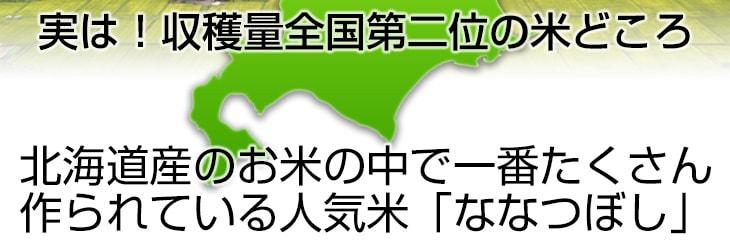 北海道産のお米の中で1番たくさん作られている人気米ななつぼし