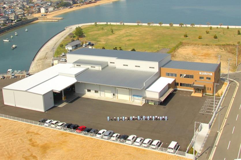 くりや本社工場を空撮写真