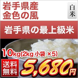 岩手県産 金色の風10kg(2kg×5袋)
