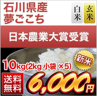 石川県産夢ごこち10kg