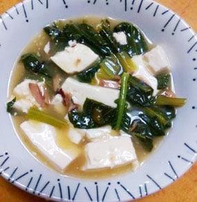 タコの醤油麹煮と豆腐のうま煮あん