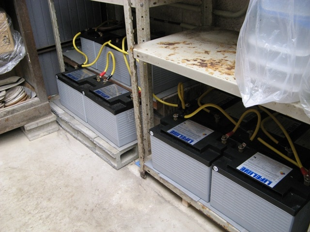 LIFELINEバッテリー16台を使用
