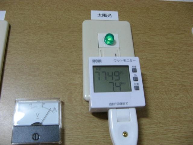 電圧計とワットモニター