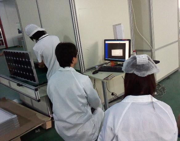 製品完成時の立会い検査