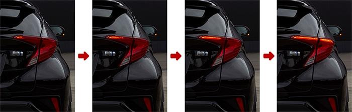 C-HR用 LEDテールランプREVO シーケンシャル 流れるウインカー