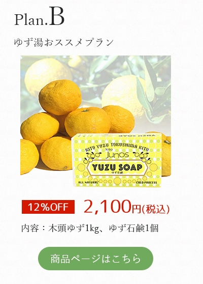 【B:ゆず湯おススメプラン】冬至用木頭ゆず1kg+ゆず石鹸