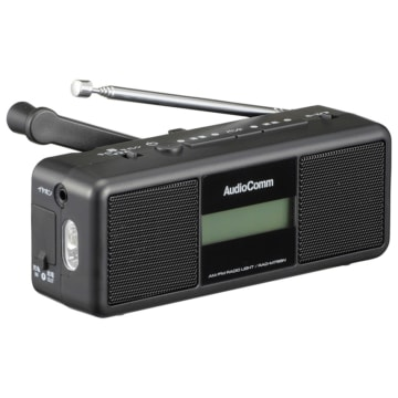 AudioComm 手回しラジオライト [品番]07-3799