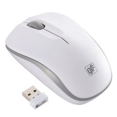 静音ワイヤレスマウス IR LED ホワイト・グレー Mサイズ|PC-SMWIMS32 W 01-3585
