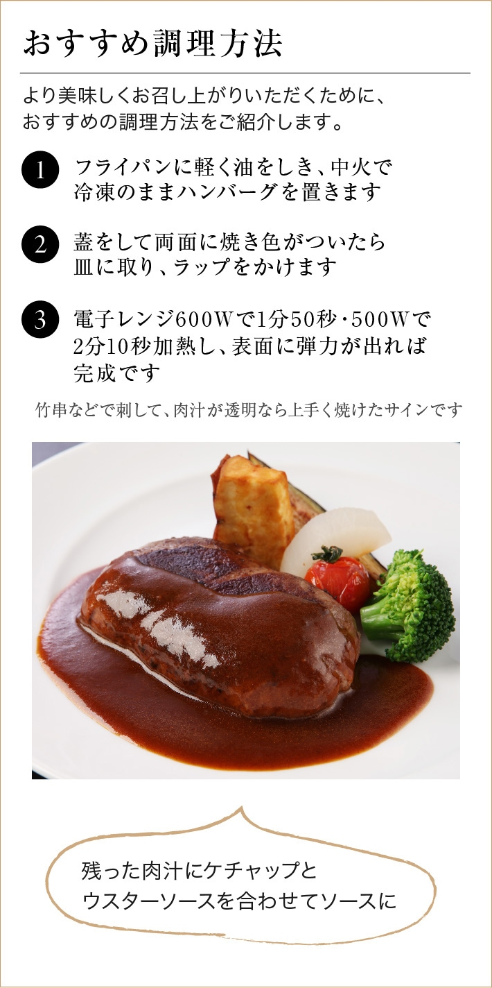 しゃぶしゃぶ肉巻き近江牛ハンバーグ おすすめ調理方法