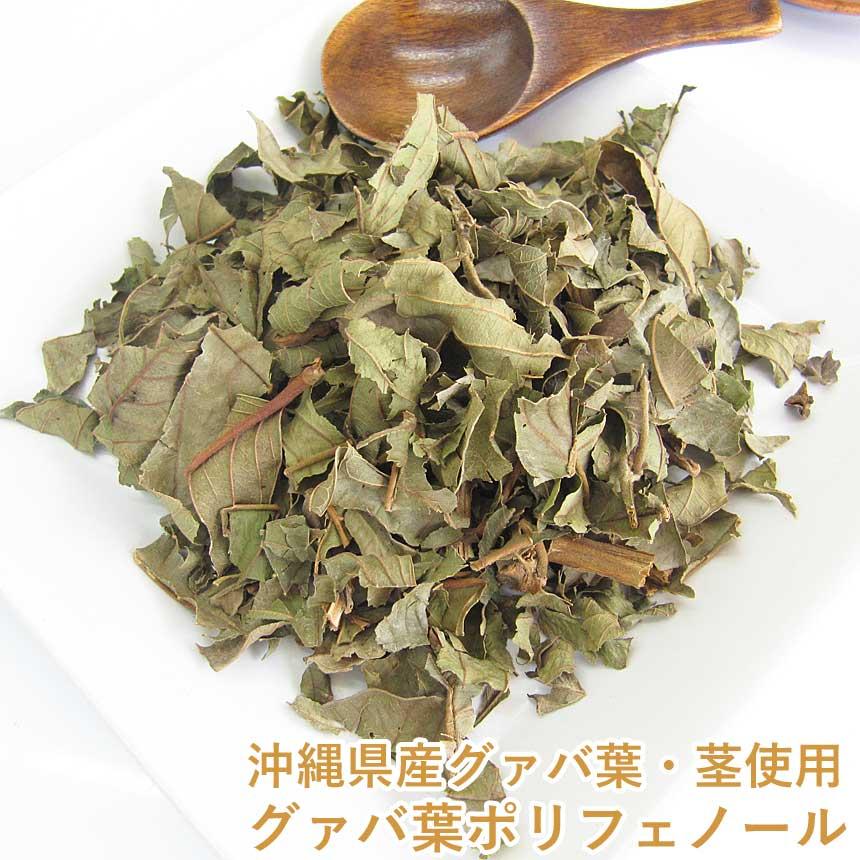沖縄産グァバ葉・茎使用