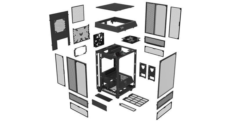 パーツを組み込みやすい「Dismantlable Modular Design」