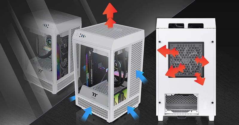 コンパクトながら高い拡張性と冷却性能を実現