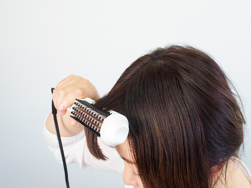 前髪のセット
