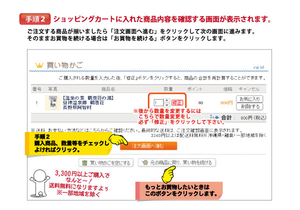 注文方法 手順2