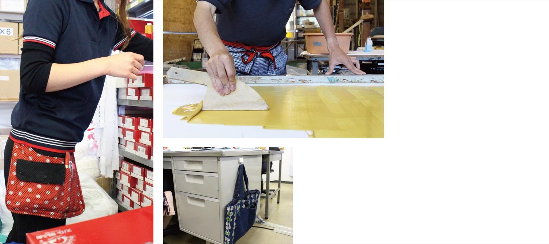 手作りの刺子織