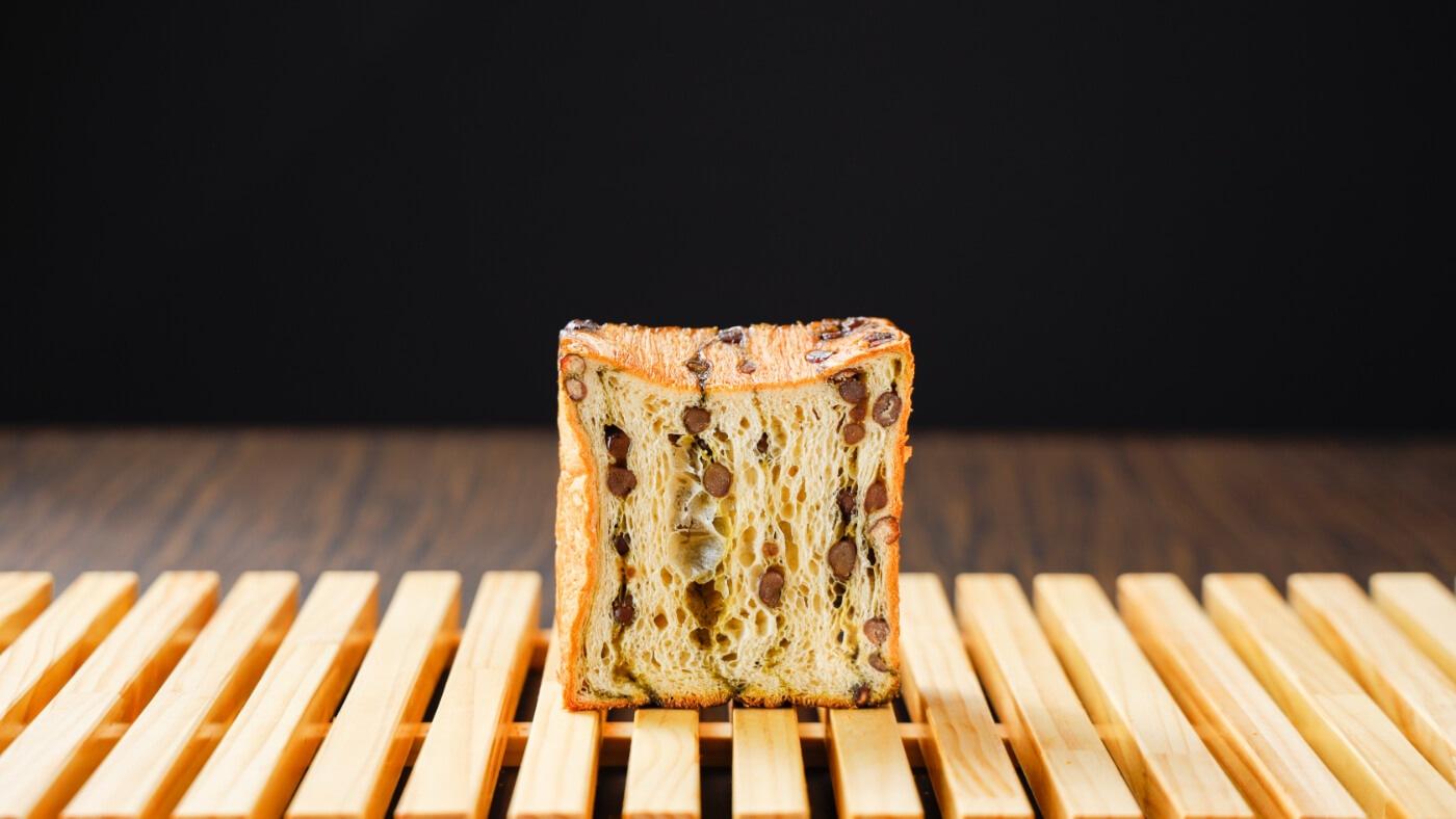 クロワッサン食パン抹茶と大納言