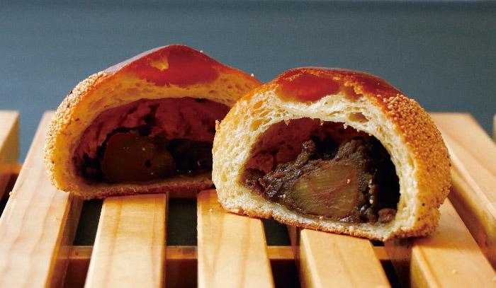 ほうじ茶香る栗のあんパン