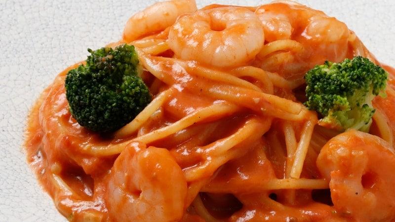 渡り蟹と海老のトマトクリームソース