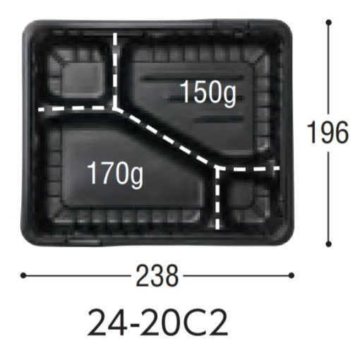 弁当箱[ガチ弁(透明蓋セット)] 50枚入