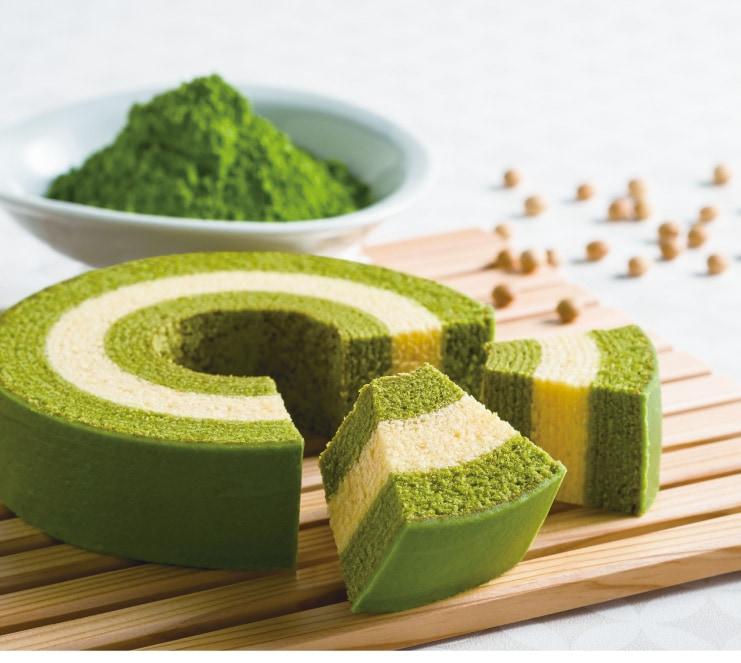 抹茶と豆乳のバームクーヘン 京ばあむ:しっとりふんわり ソフトタイプ