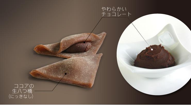 やわらかいチョコレート+ココアの生八つ橋 ショコラのおたべ