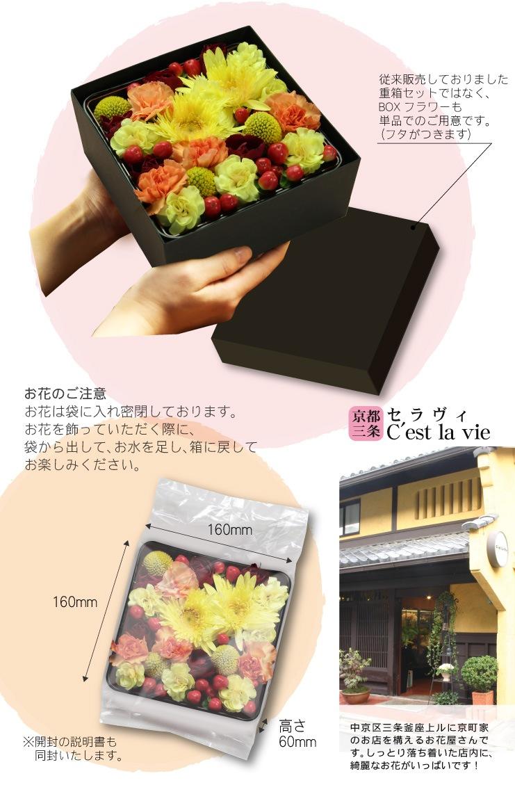 ◆5/10 母の日◆おかあさんありがとう◆京都人気スイーツ・京ばあむと京都フィナンシェ BOXフラワー(生花)とセットにしてお届けします