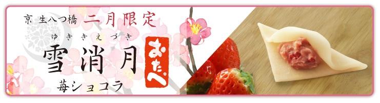 《2月限定》二月のおたべ 雪消月-ゆききえづき- 苺ショコラ