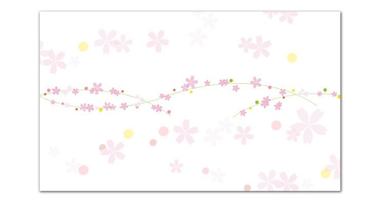 季節の掛け紙 春 さくら