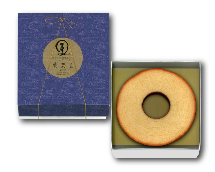 焦がし砂糖仕上げのバームクーヘン:菓まる ソフトタイプのふんわりバームクーヘン