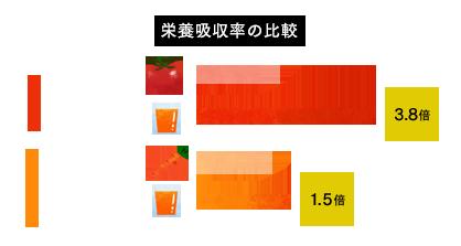 栄養吸収率の比較図