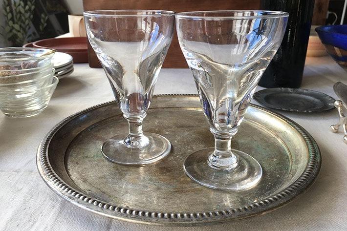[antiques]19世紀フランス・手吹きパフェグラス