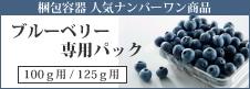 125g/100gブルーベリー専用パック