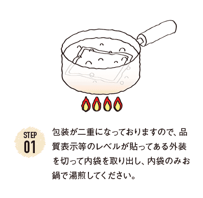 調理する前にブロック肉の塊を冷蔵庫から取り出し、ラップで覆ったままの状態で置き、常温になるまで戻しておきます。