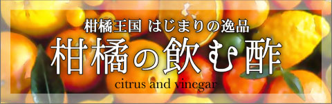 柑橘王国はじまりの逸品柑橘の飲む酢