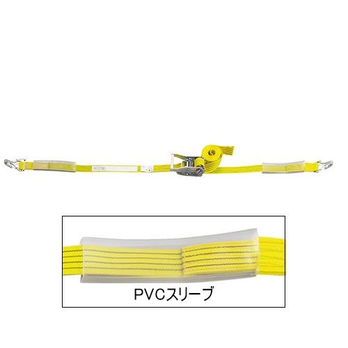 ベルト荷締機 JIS Jフック(巾50mm 固定0.5m 巻取7m 超高級 Pat.) 旧品番 6481600000 H5705J