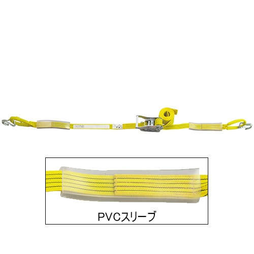 ベルト荷締機 JIS J・Uフック(巾50mm 固定1m 巻取5m 超高級 Pat.) 旧品番 6481900000 H551UJ