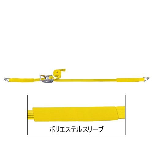 ベルト荷締機 JIS Jフック(巾50mm 固定0.5m 巻取7m 超高級 Pat.)