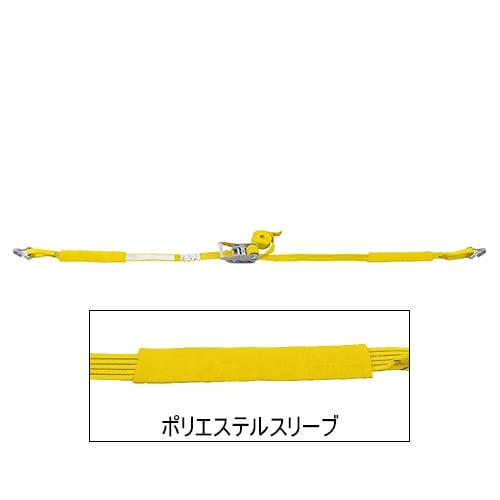 ベルト荷締機 JIS Jフック(巾50mm 固定1m 巻取5m 超高級 Pat.)