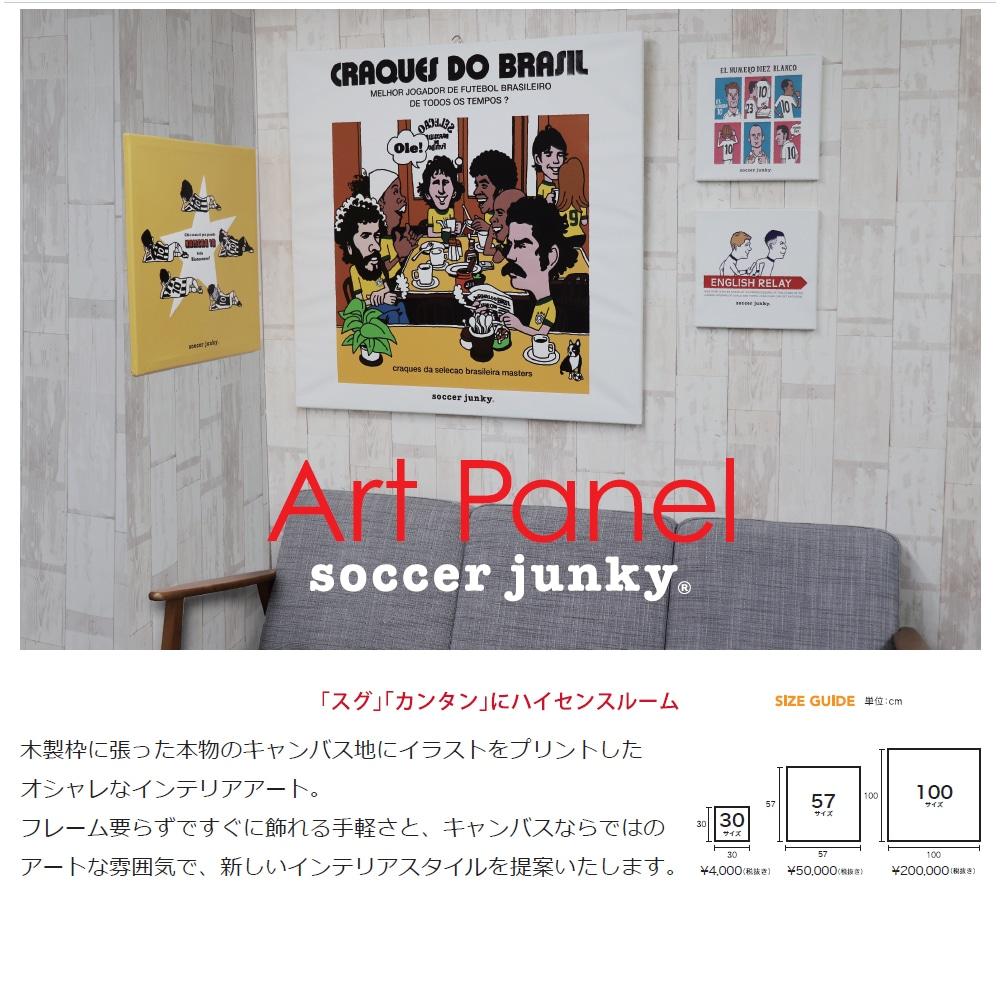 soccer junky アートパネル