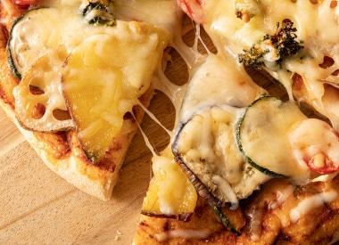 季節のお野菜のピザ