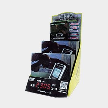 ゴルフ用携帯端末機用展示台