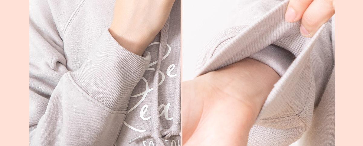 袖は絞ってあるので家事の時にも動きやすい。