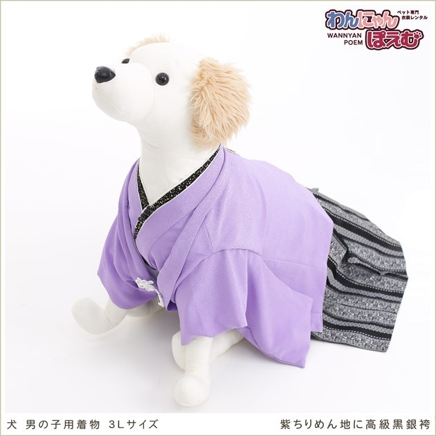 犬用着物レンタル男の子/大型犬3Lサイズ和装