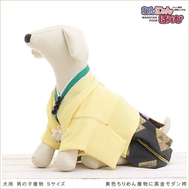 犬用着物レンタル男の子/小型犬Sサイズ和装