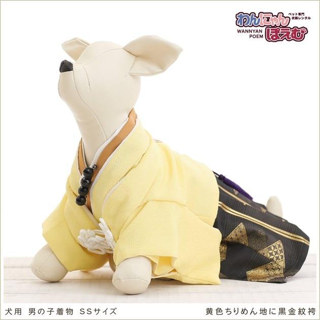 犬用着物レンタル男の子/小型犬SSサイズ和装