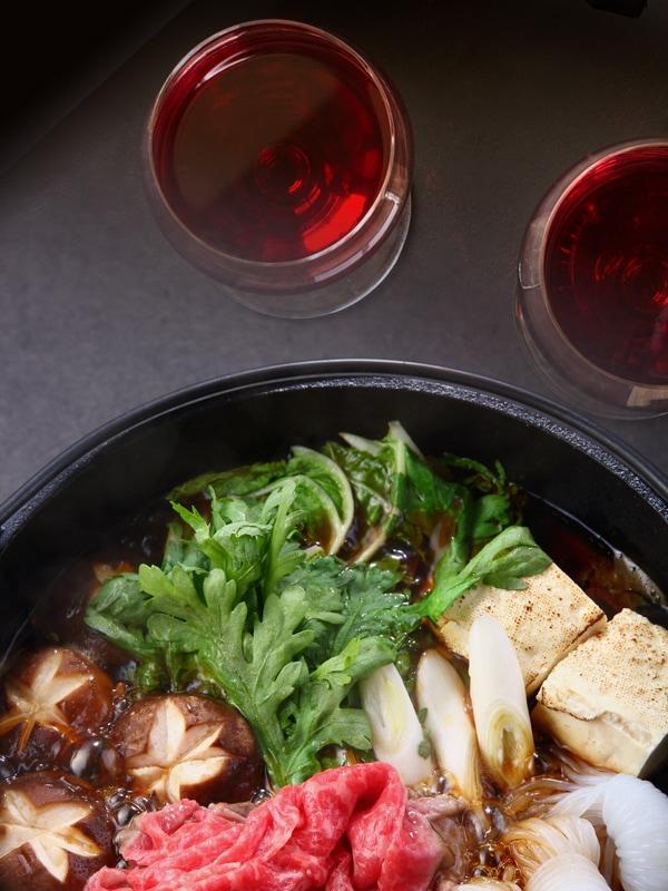 すき焼きとワイン