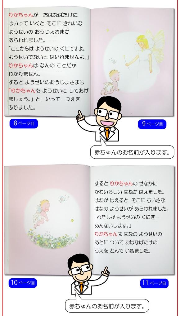 出産祝いのオーダーメイド絵本「ようこそあかちゃん」の中身