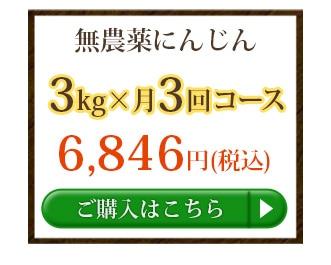 無農薬にんじん3kg×3回
