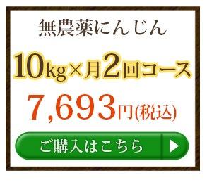 無農薬にんじん10kg×2回